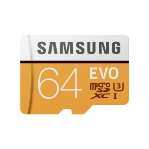 Samsung EVO Plus Memory Card 64GB with SD Adapter Red